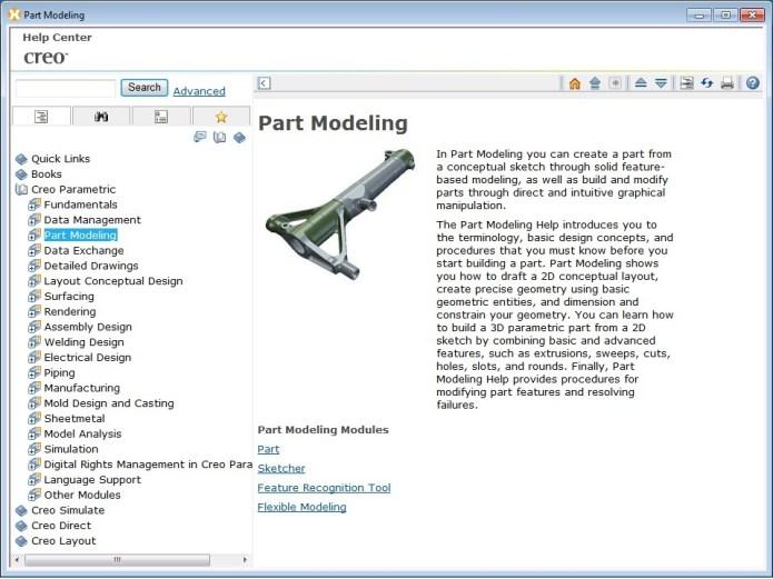 PTC Creo 1.0 M050 - Part modeling