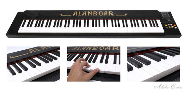 LEGO Piano (Life Size 88 Keys Playable)