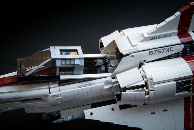 Ucs Scale Lego Replica Of A Colonial Viper Mk Ii From Battlestar