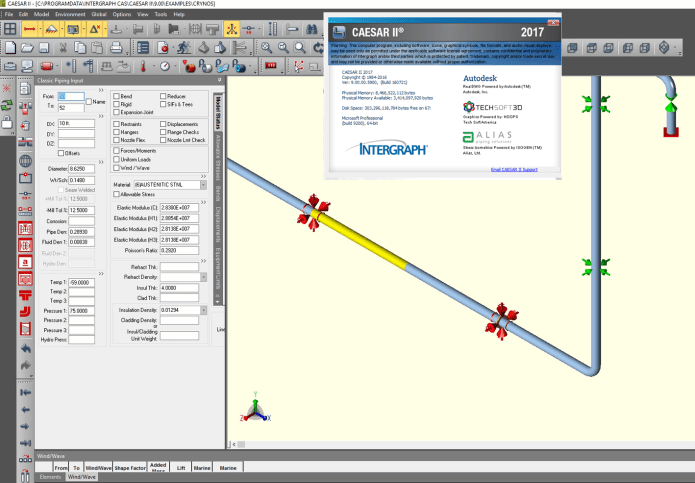 Working with Intergraph CAESARII V2017 build 9.0 with SPLM2012 full