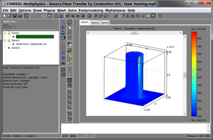 Work with COMSOL Multiphysics 3.5.0.608 full