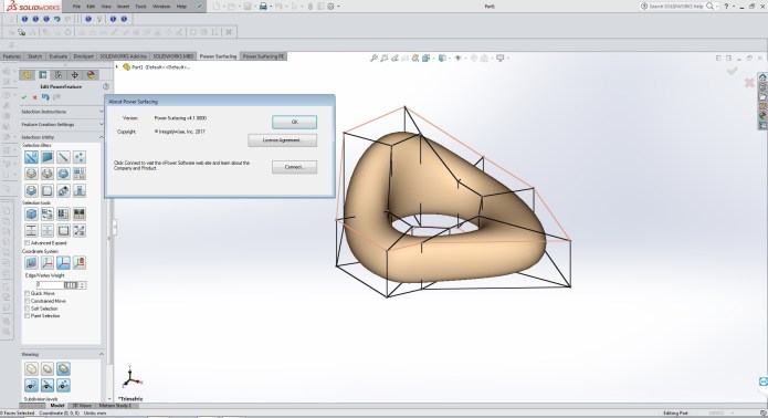 Design with PowerSurfacing RE v2.4-4.1 for SolidWorks 2012-2017 64bit