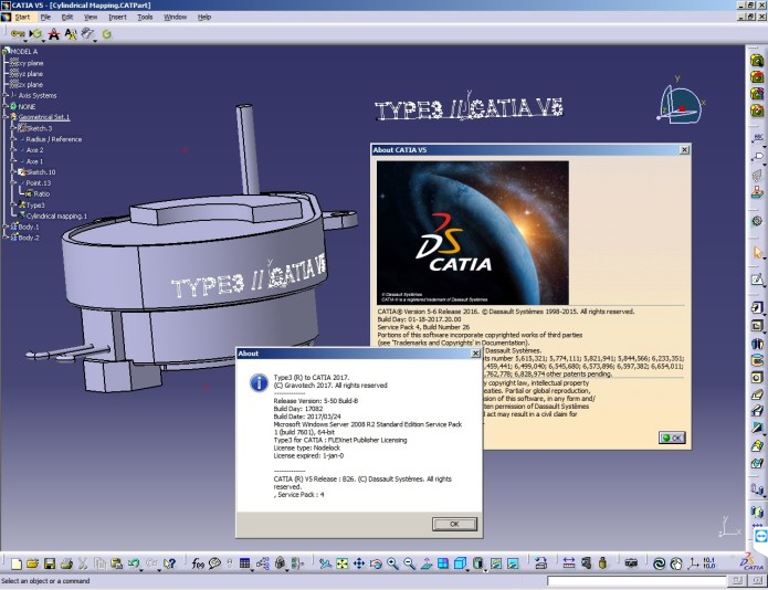 Type3 CAA V5 Based 2017 for CATIA V5R18-R26