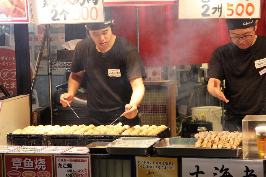 vendeurs takoyakis