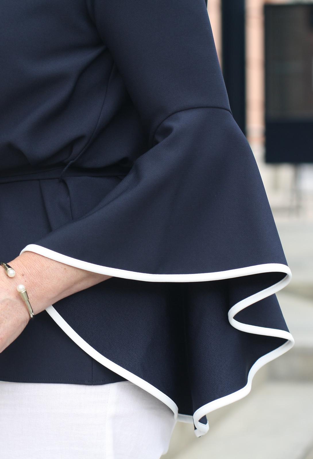 Bell Sleeves Wide Leg Linen Trousers Elegant Summer Look LadyofStyle
