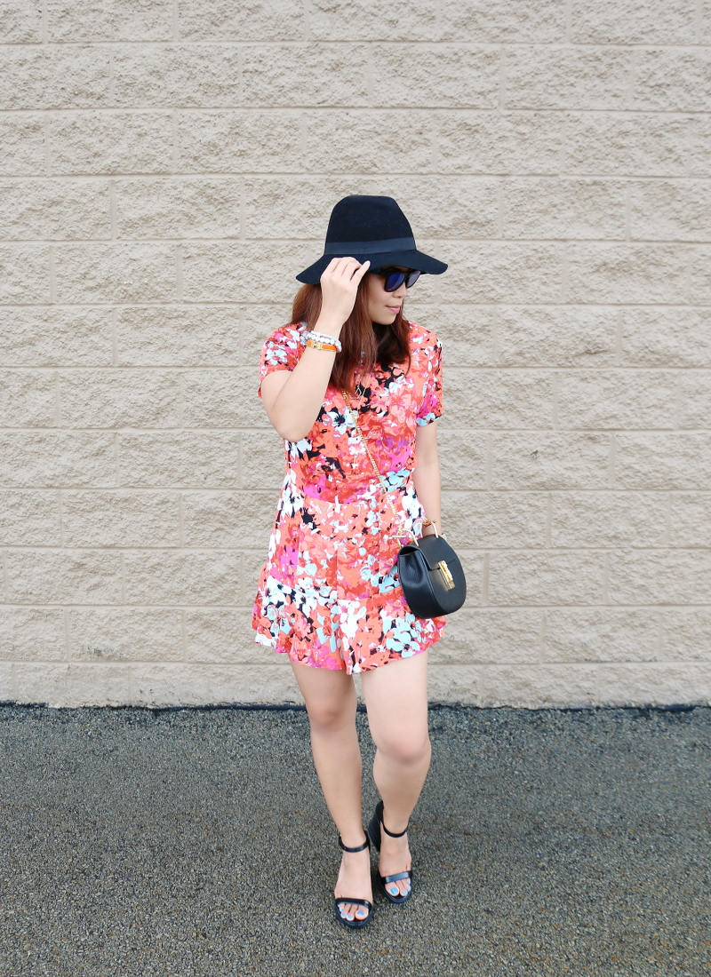 floral-romper-black-floppy-hat-chloe-bag-1
