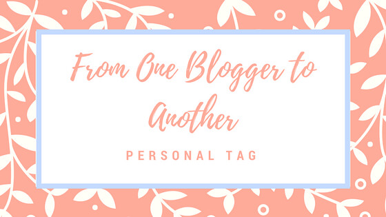 From One Blogger to Another