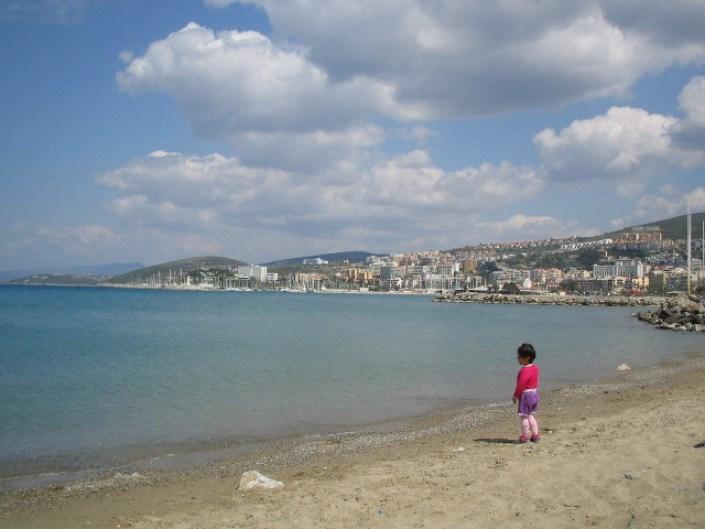 Kusadasi city beach