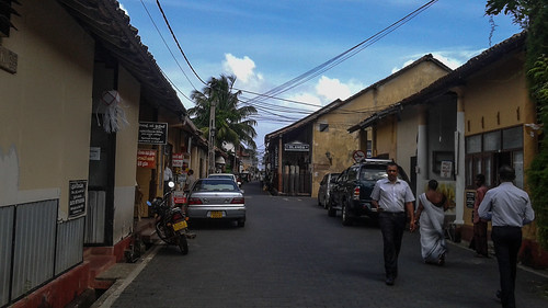 Road inside Galle Fort Sri Lanka