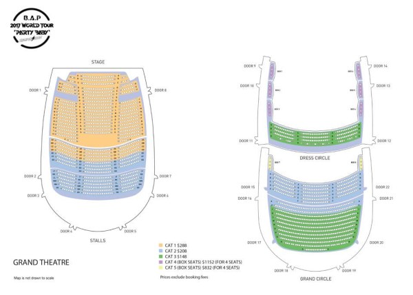 B.A.P World Tour in Singapore Seating Plan