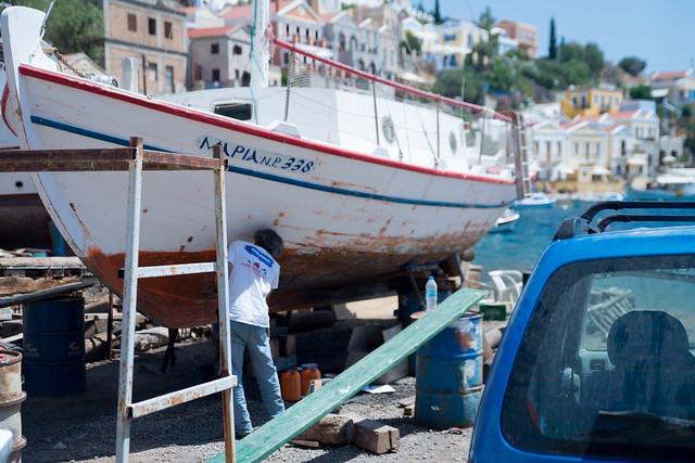 Symi Greece boat yard