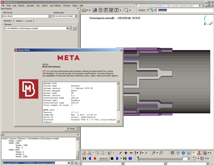 Working with BETA CAE Meta Post 2017.1.1 full license