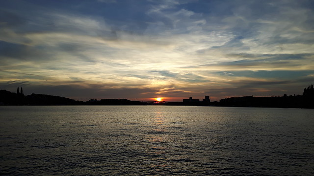 Sunset boven Västerbron - Stockholm