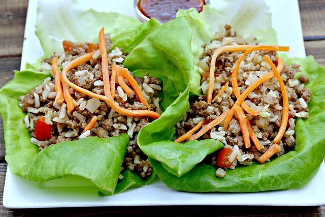 Five spice lettuce wraps