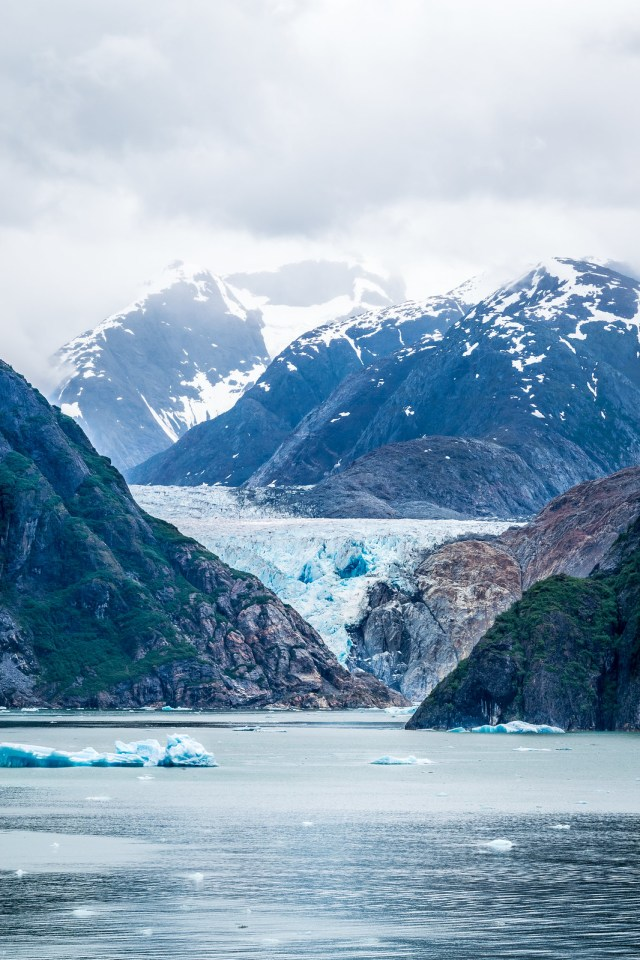 Sawyer Glacier at the mouth of the fjord