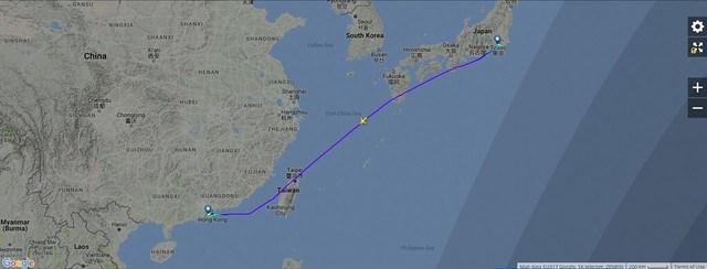 KA397 Flight Map
