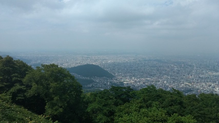 Walking up Mount Moiwa