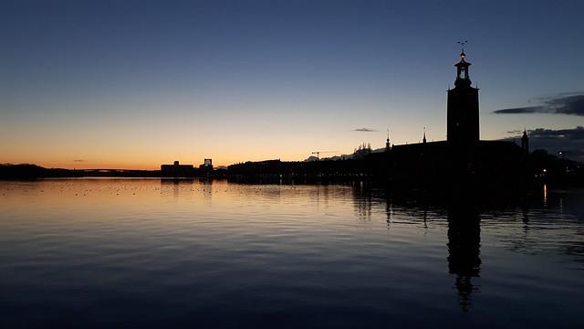 Zonsondergang in Stockholm (1)