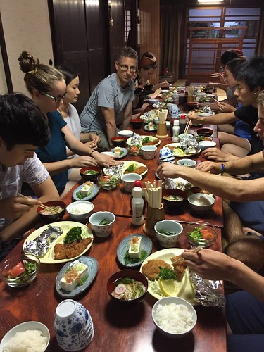 Traditional Japanese dinner the night before the climb