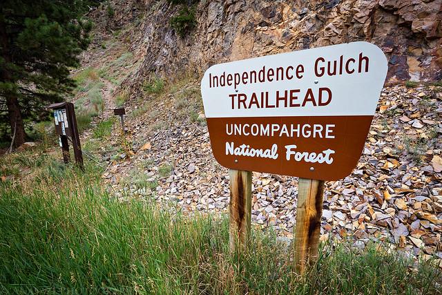 Independence Gulch Trailhead