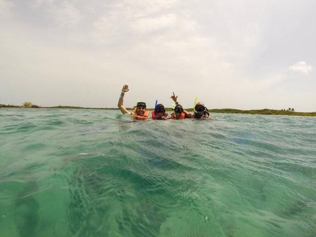 nadar en el Caribe