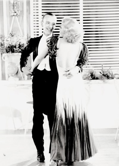 Ginger Rogers and Fred Astaire in a publicity photo for The Gay Divorcee (1934)