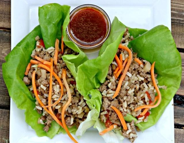Five Spice Lettuce Wraps top