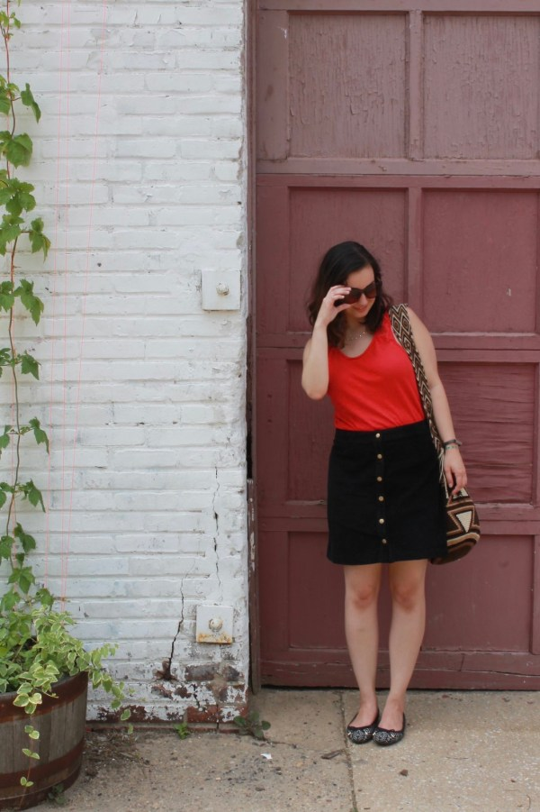 How to wear a corduroy skirt in summer | Shades of Sarah