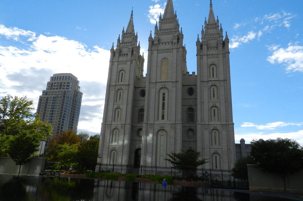 exterior del Templo de Salt Lake City Complejo de los Mormones EEUU 09
