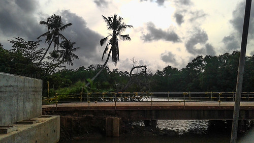 Crossing the Bridge in Weligama Sri Lanka