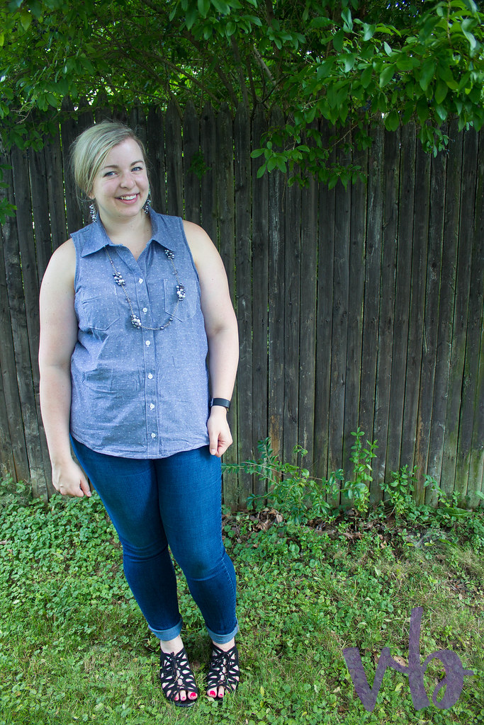 Sleeveless Chambray Cheyenne