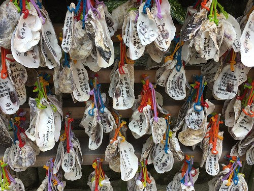 Votive oyster shells at Hase-sera, Kamakura