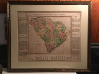 1822 Carey and Lea Map of South Carolina