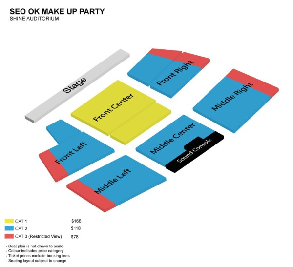 Seo Ok Make Up Party Seating Plan