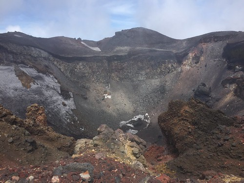 Fuji's crater