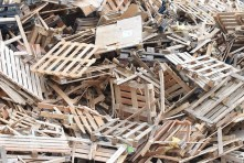 Waste Garbage Wood Waste Wood Palettes Scrap