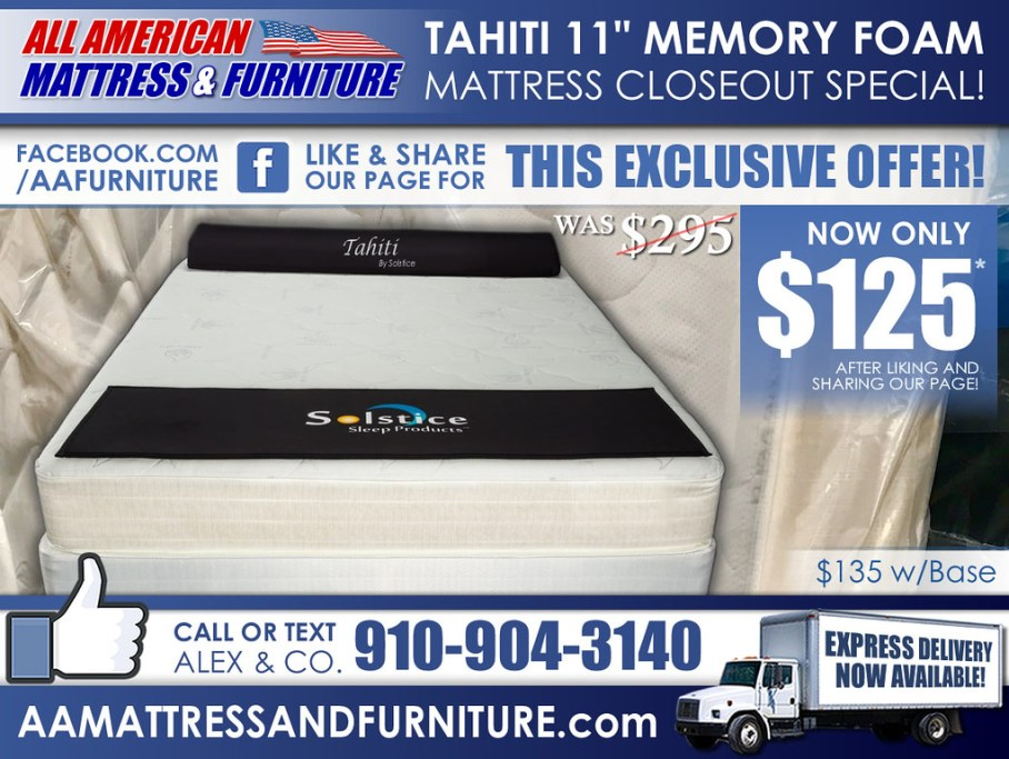 Tahiti 11in MemoryFoamSpecial_Like&Share2017_2