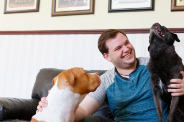 Shoot for Godaddy with Therapaws owner Joshua Fry