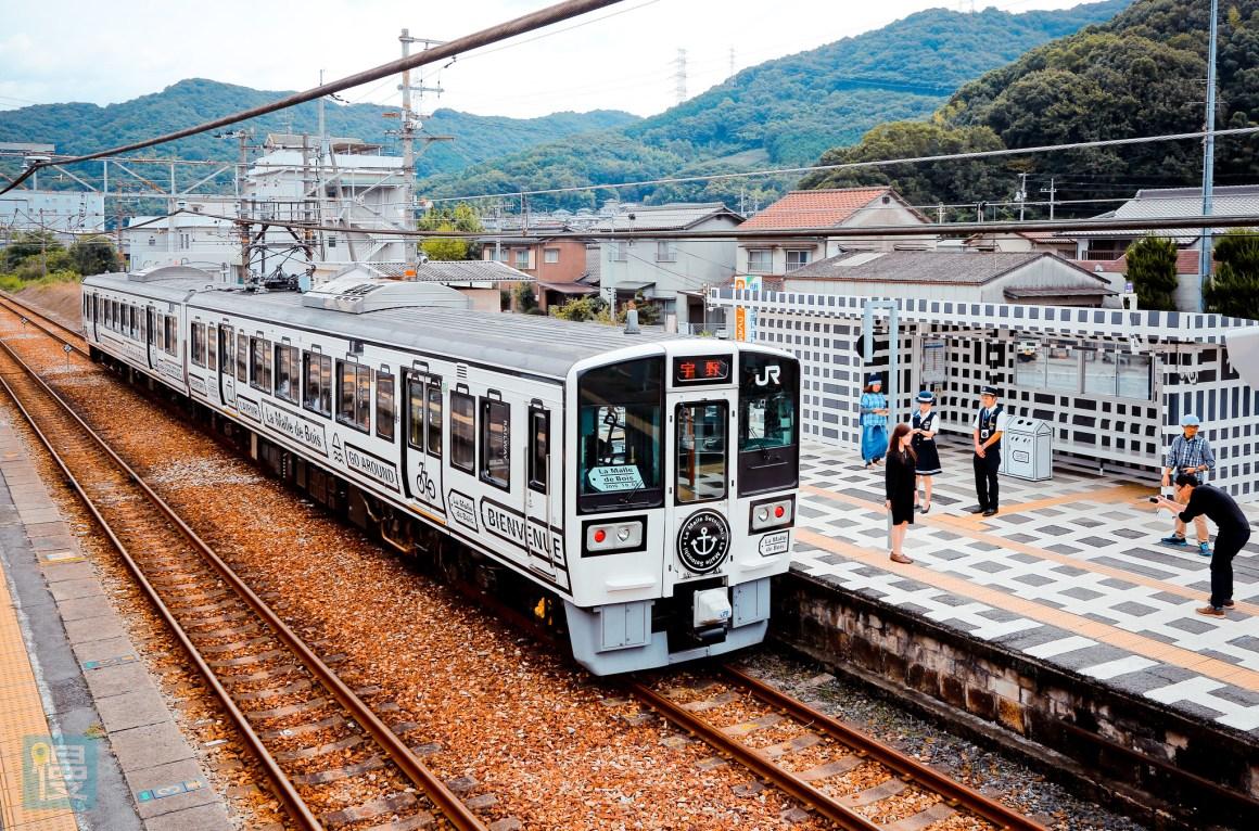 岡山出發文青藝術風的JR觀光列車 2016-367