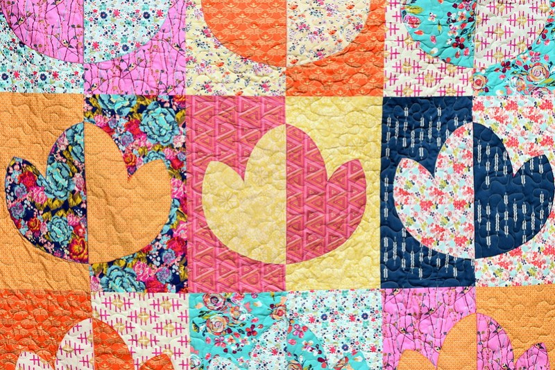 Boho Lotus Flower Quilt (Popular Patchwork Magazine August 17)