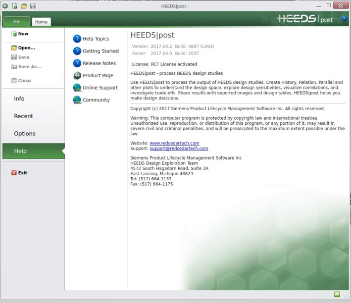 Working with HEEDS post 2017.04.2 full crack