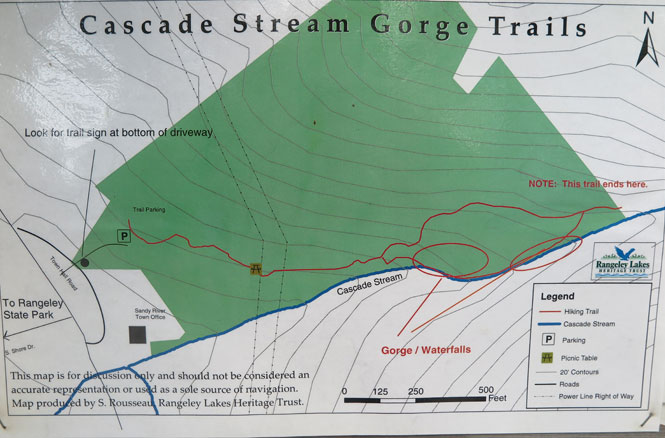 Cascade Trail Map on