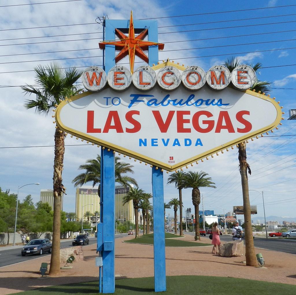 Las Vegas cartel de entrada EEUU