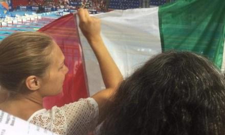 Budapest 2017, un tifoso ai Mondiali di nuoto