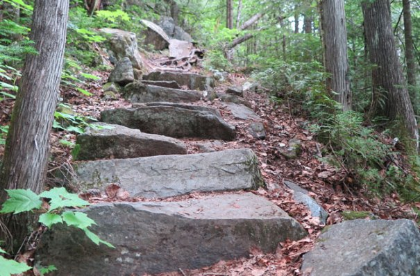 Cascade Stream Gorge Trail Rock Steps