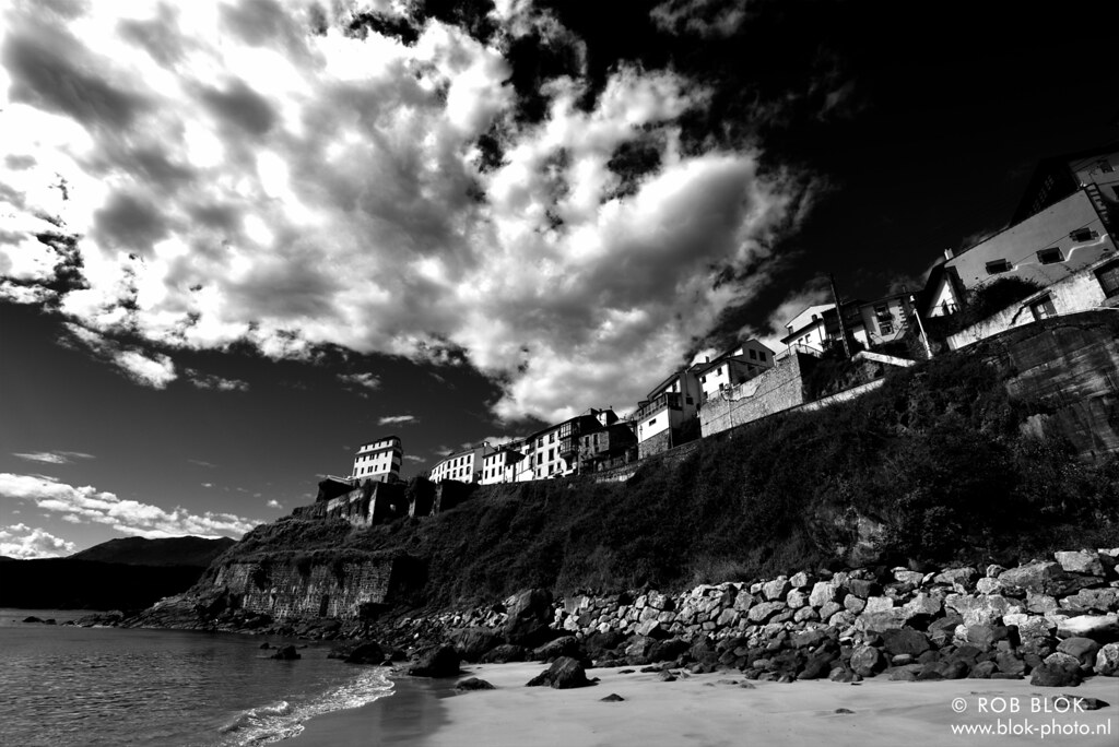 Sky over Lastres-BP81253bw