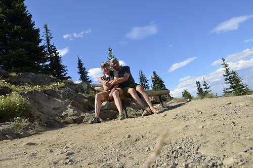 Both of us on near the peak