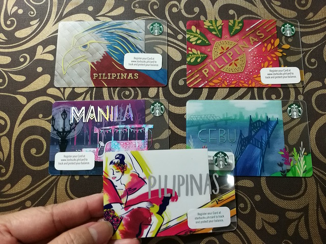 Pilipinas Starbucks cards over the years