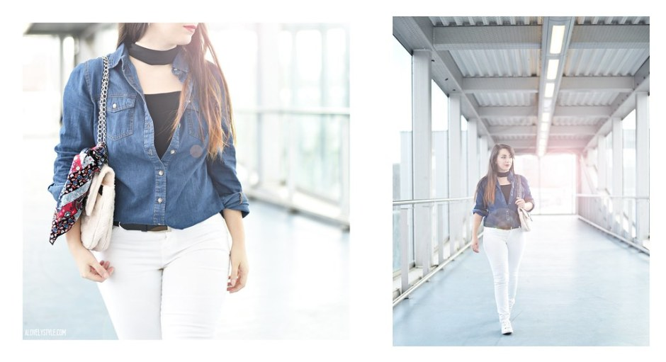Outfit of the day, streetstyle look - Denim look - Lovely Style Blog