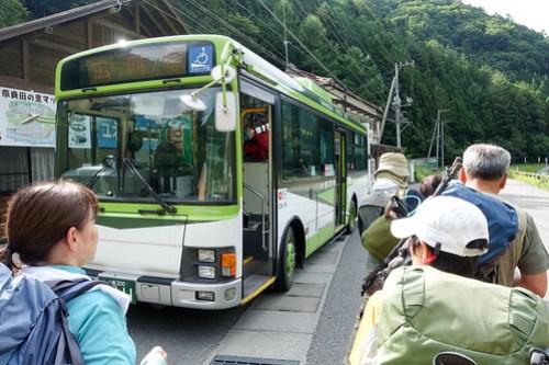 広河原行のバス